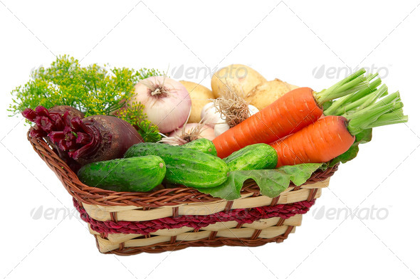Vegetable isolated on a whitegroun - Stock Photo - Images