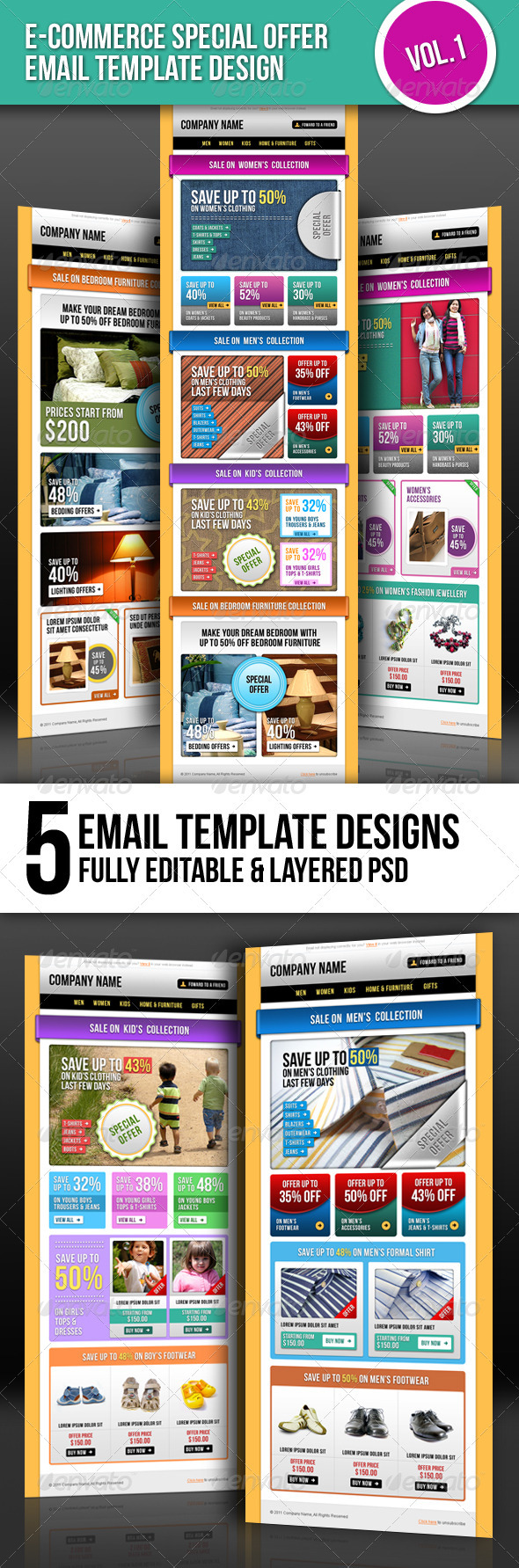 E-commerce Special Offer Email Template Vol.1 - E-newsletters Web Elements