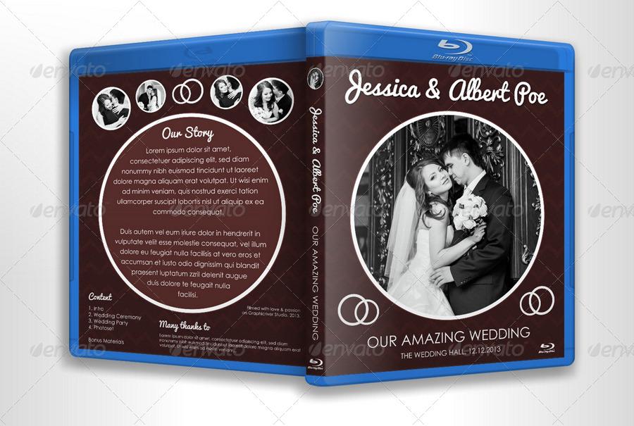 Elegant Dark Wedding DVD Blu Ray Cover Template