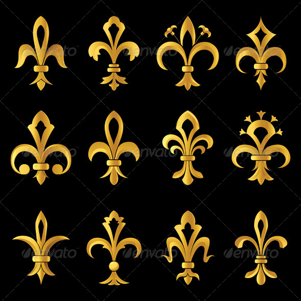 Fleur De Lys - Decorative Symbols Decorative