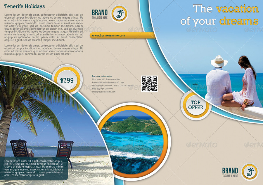 travel agency 3 fold brochure by rapidgraf graphicriver