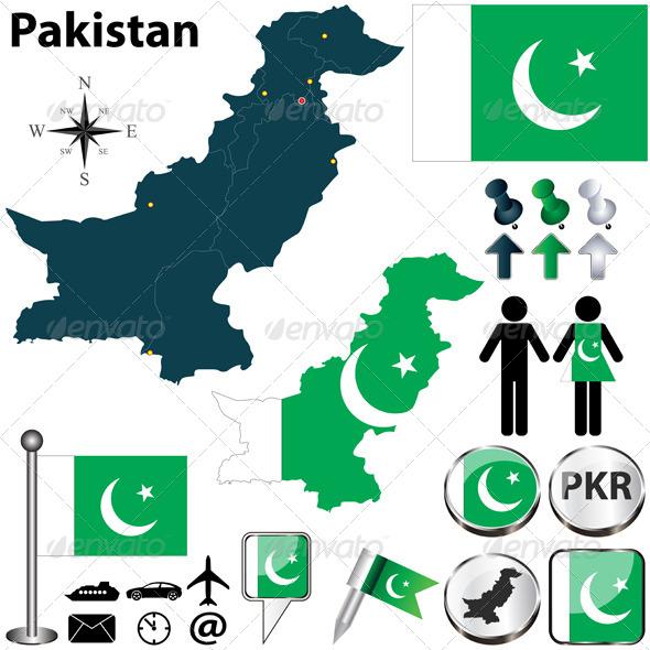 Map of Pakistan - Travel Conceptual