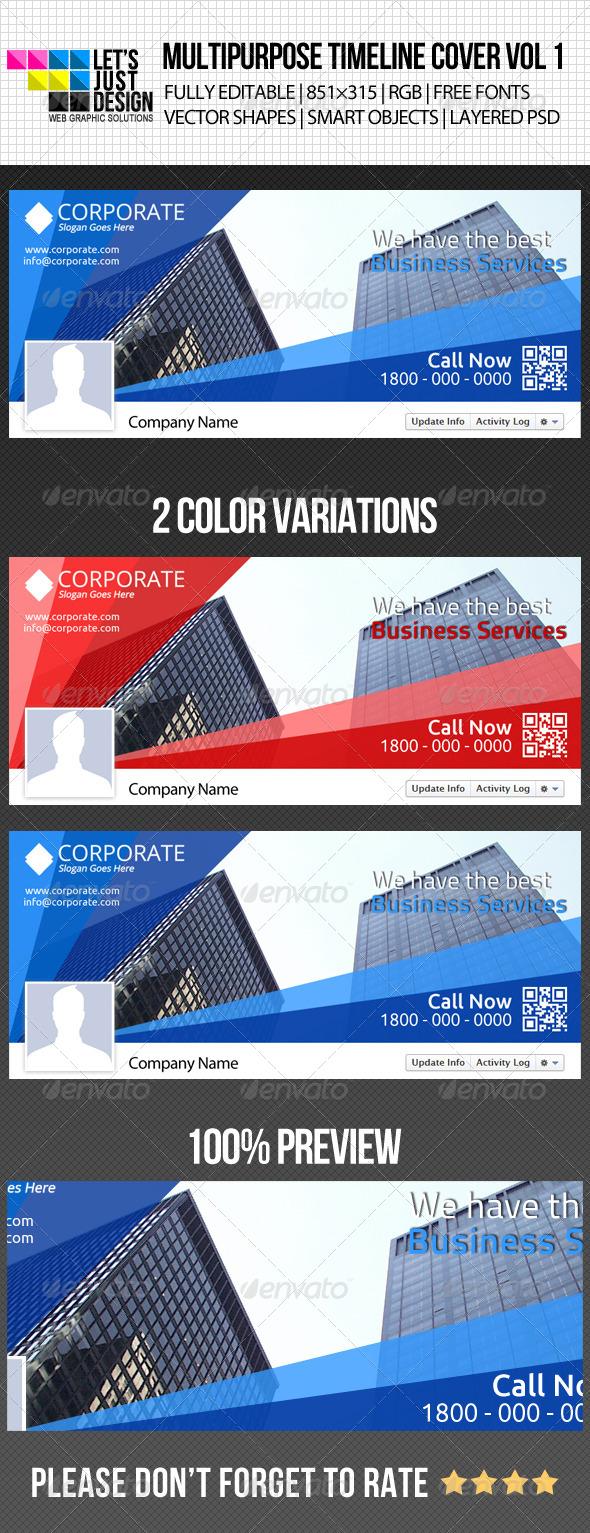 Multipurpose Facebook Timeline Cover Vol 1 - Facebook Timeline Covers Social Media