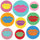 Lipstick Kisses Set - GraphicRiver Item for Sale