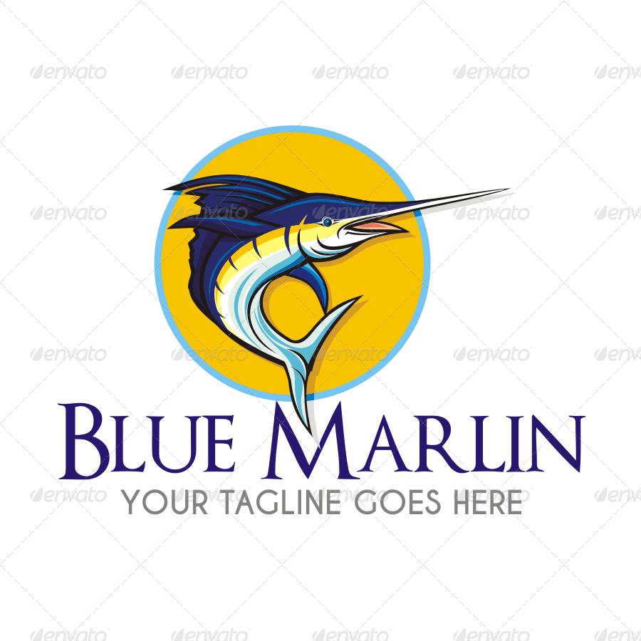 blue marlin 1 logo by seviart graphicriver