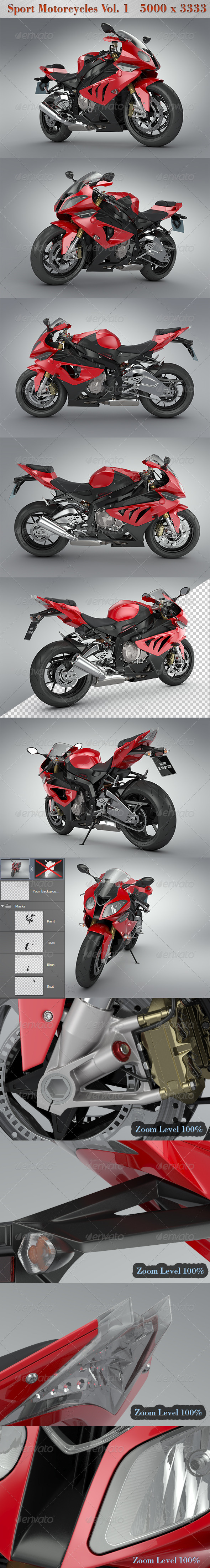 Sport Motorcycles Vol.1 - Miscellaneous 3D Renders