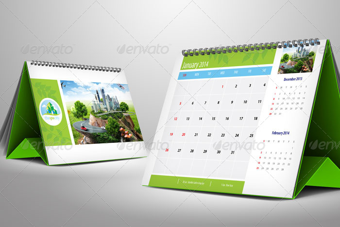 Eco Spa Desk Calendar 2017 by GusmanCahyadi | GraphicRiver