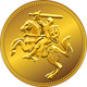 Gold Money Coin with Knight - GraphicRiver Item for Sale