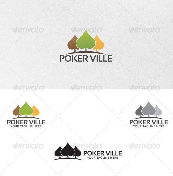 Poker Ville - Logo Template - Vector Abstract