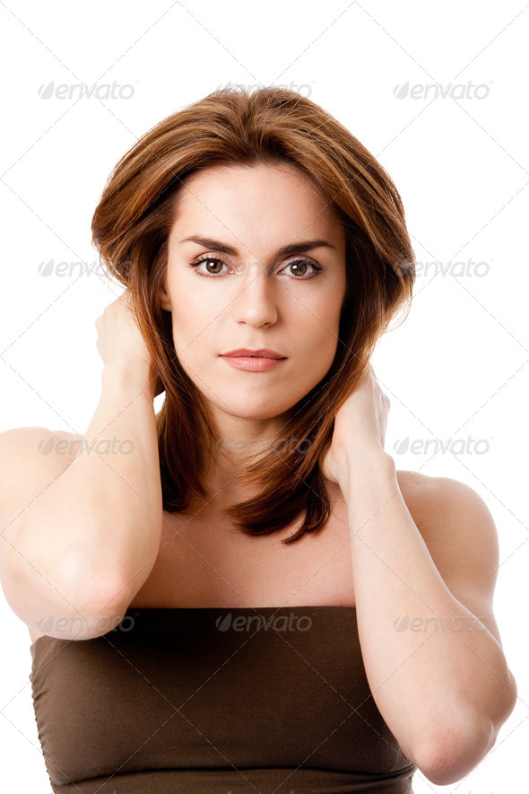 Beautiful female face - Stock Photo - Images