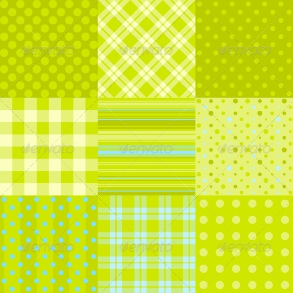 Set of 9 Simple Seamless Textures - Patterns Decorative