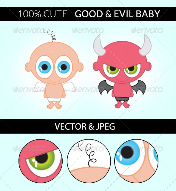 Good and Evil Baby - People Characters