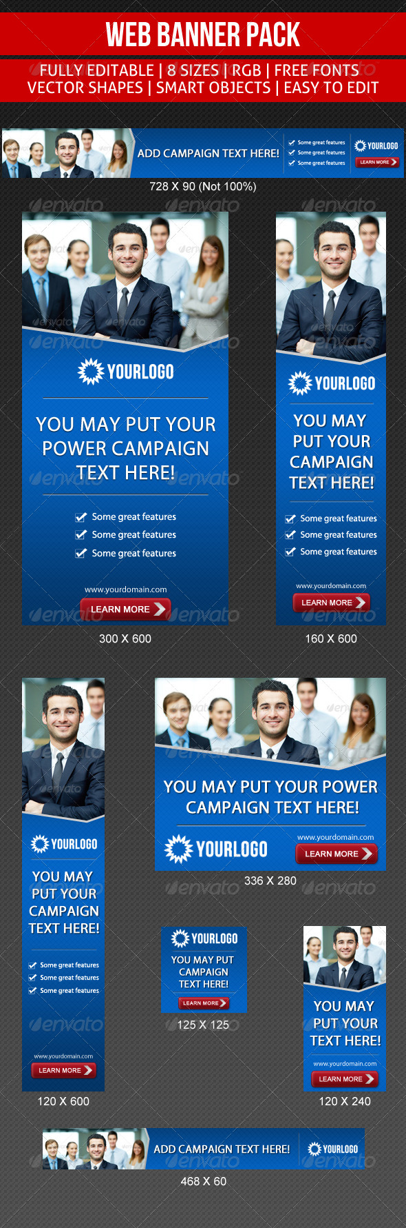 Simple Corporate Banner - Banners & Ads Web Elements