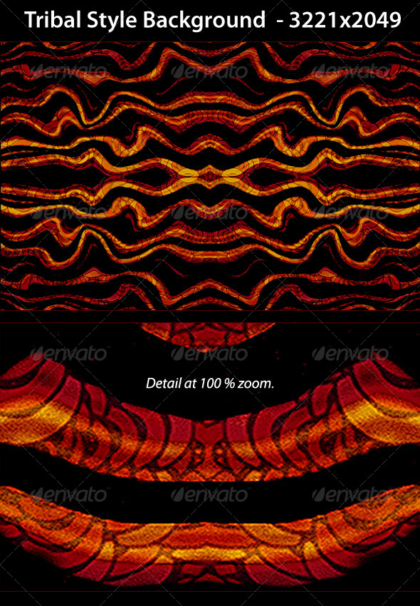 Tribal Style Background Pattern - Abstract Backgrounds