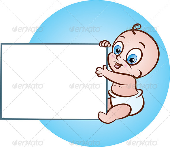 Baby with Banner - People Characters