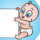 Baby with Banner - GraphicRiver Item for Sale