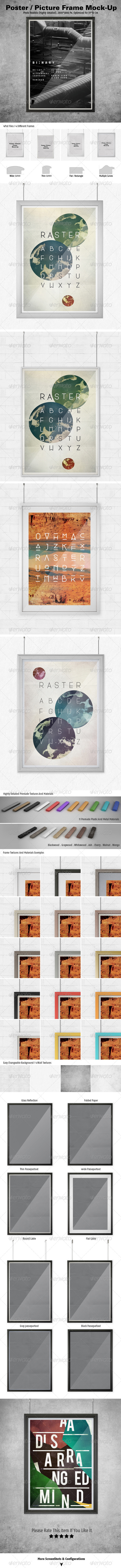 Poster/Picture Frame Mock-ups - Posters Print
