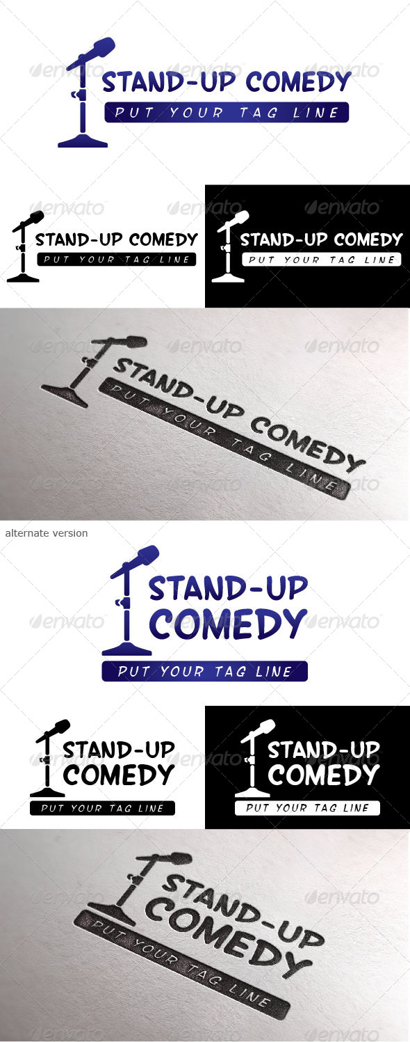 Standup Comedy Logo - Objects Logo Templates