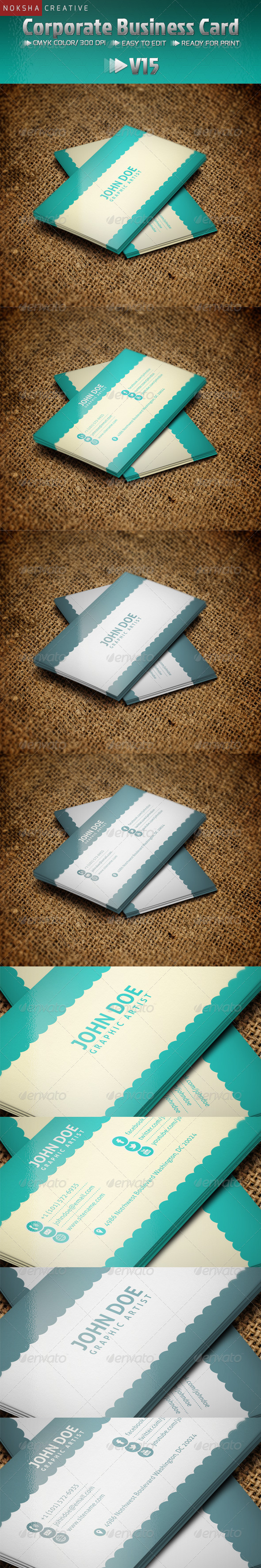 Corporate Business Card V15 - Business Cards Print Templates