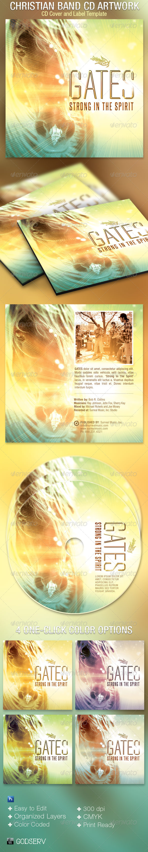 Christian Band CD Artwork Template - CD & DVD Artwork Print Templates
