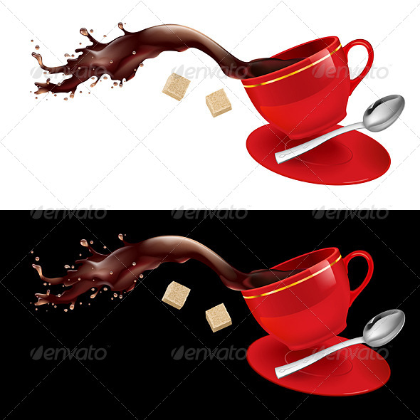 Coffee in Red Cup. - Miscellaneous Vectors