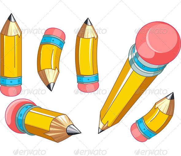 Pencils Set - Objects Vectors