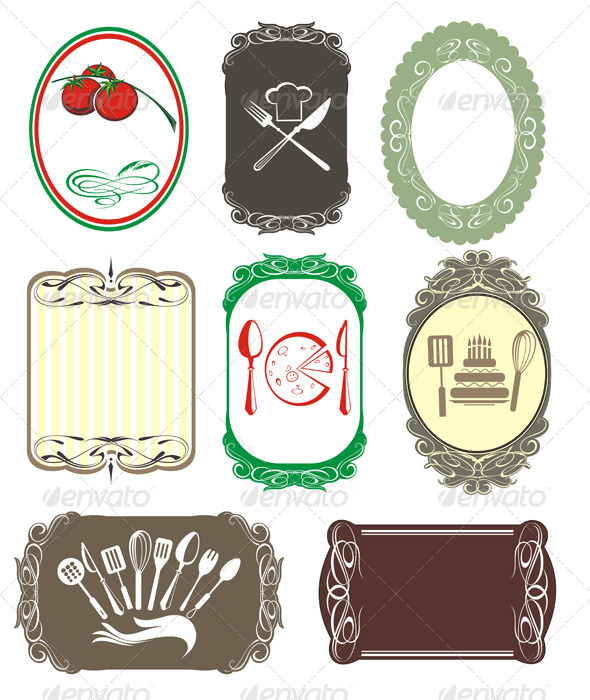Labels - Decorative Symbols Decorative