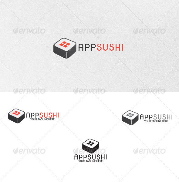 App-Sushi - Logo Template - Food Logo Templates