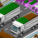 Isometric Containers Trucks in Front View - GraphicRiver Item for Sale