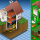 Isometric House with Wood Fired Boiler - GraphicRiver Item for Sale