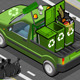 Isometric Garbage Pick Up in Rear View - GraphicRiver Item for Sale