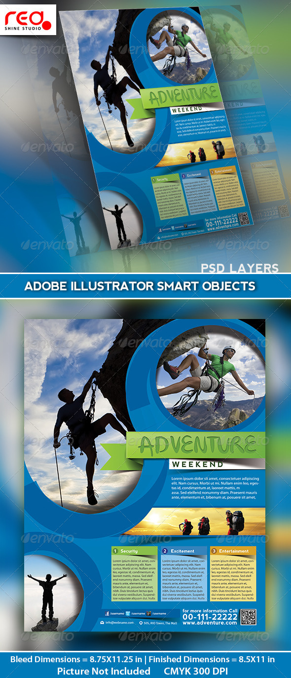Adventure World Flyer/Poster & Magazine Template - Holidays Events