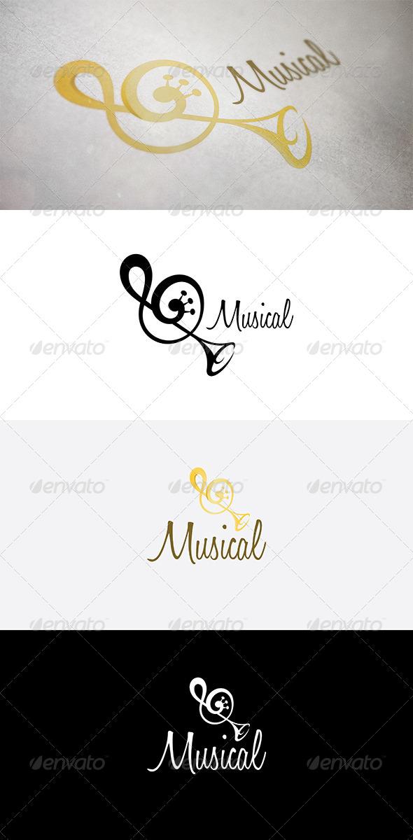 Abstract Music Symbol - Abstract Logo Templates
