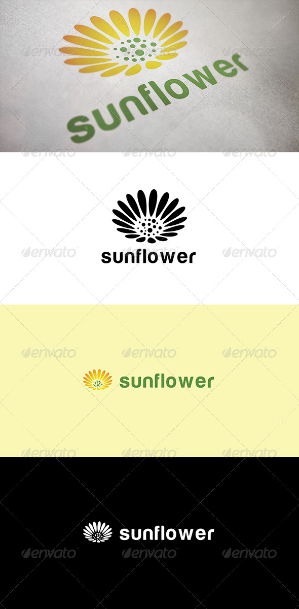 Abstract Sunflower - Abstract Logo Templates