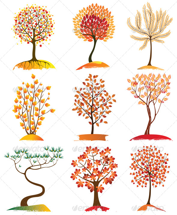 Trees Icons - Flowers & Plants Nature