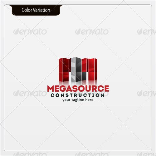 MegaSource - Letter 'M' - Logo Template
