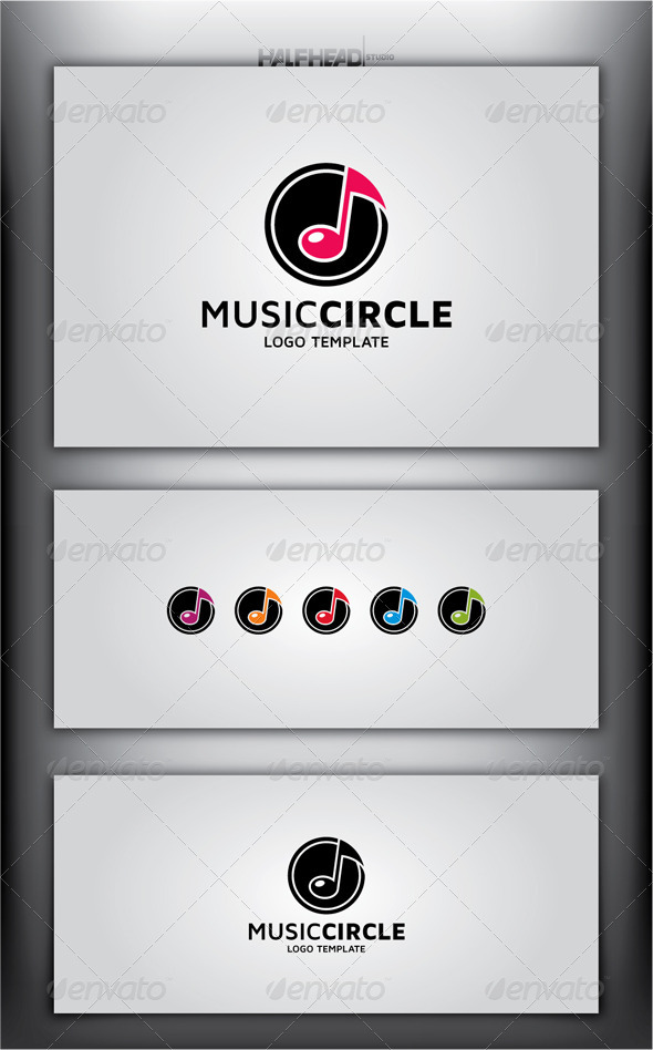 Music Circle Logo Template - Symbols Logo Templates