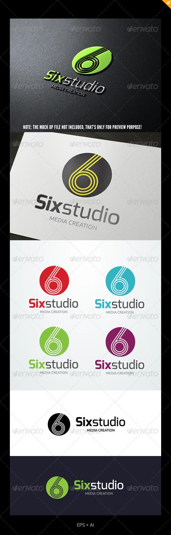 Six Studio Logo - Numbers Logo Templates