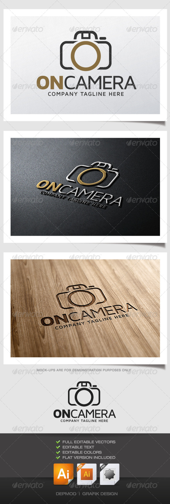 On Camera Logo - Letters Logo Templates