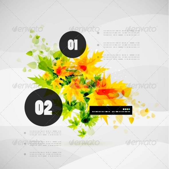 Leaf Nature Infographic Modern Template - Backgrounds Decorative