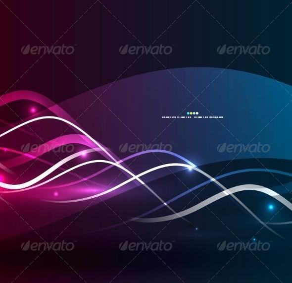 Purple Wavy Lines - Backgrounds Decorative