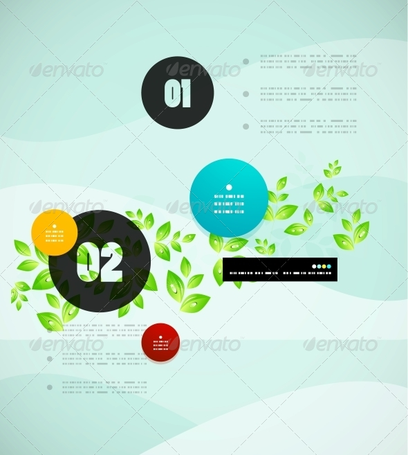 Nature Infographics Modern Template - Backgrounds Decorative