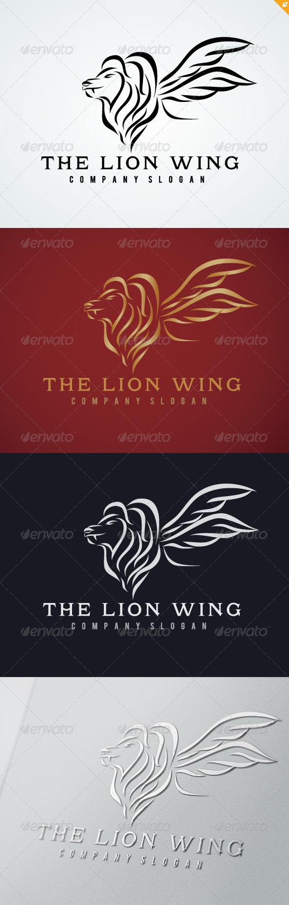 The Lion Wing Logo - Crests Logo Templates