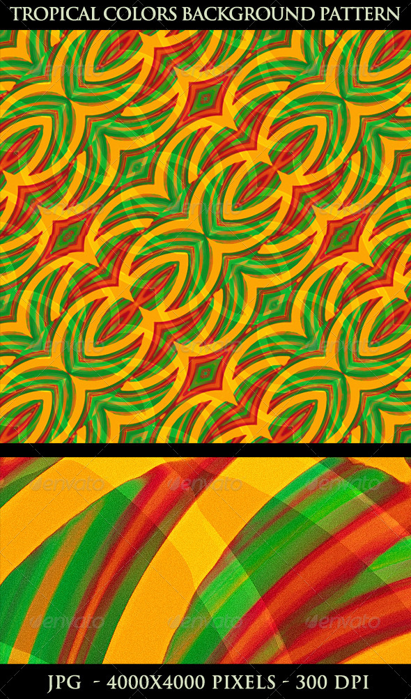 Tropical Color Abstract Background Pattern - Backgrounds Decorative