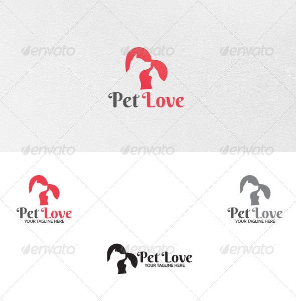 Pet Love - Logo Template - Animals Logo Templates