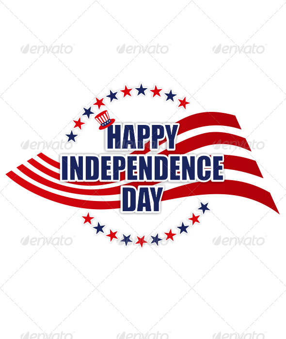 Happy Independence Day Sign - Miscellaneous Characters