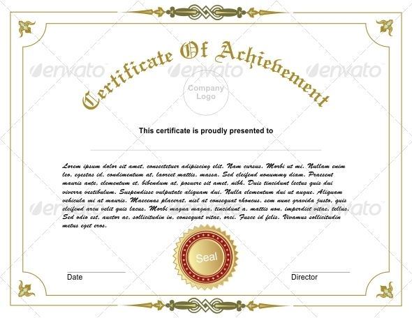 Achievement Certificate - Miscellaneous Characters