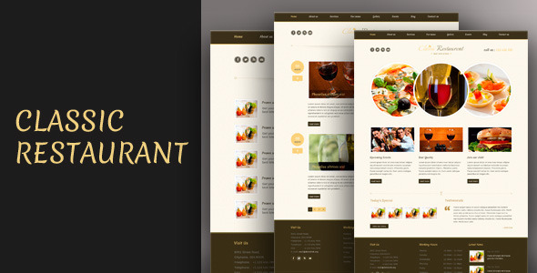 Classic Restaurant - Responsive Theme Css3/Html5 - Restaurants & Cafes Entertainment