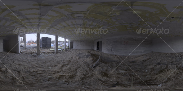Industrial Area HDRI - Demolition Site - 3DOcean Item for Sale