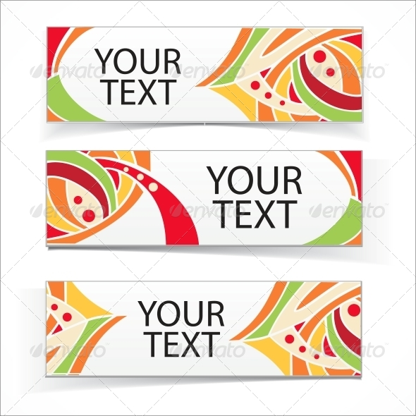 Abstract colorful headers or banners set - Web Elements Vectors